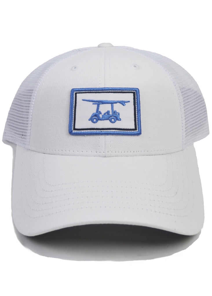 Bald Head Blues Snapback Hat | White Patch Trucker - Jordan Lash Charleston