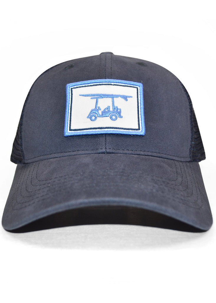 Bald Head Blues Snapback Hat | Navy Patch Trucker - Jordan Lash Charleston