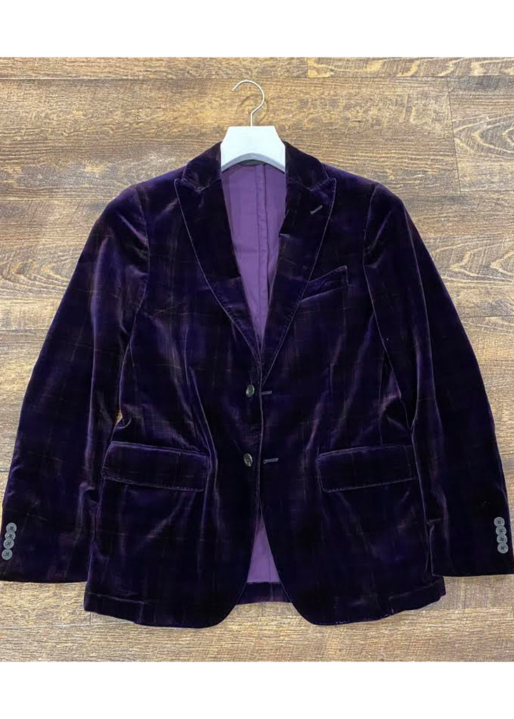 Jordan Lash Charleston Wilson Sport Coat | Purple Plaid Velvet - Jordan Lash Charleston