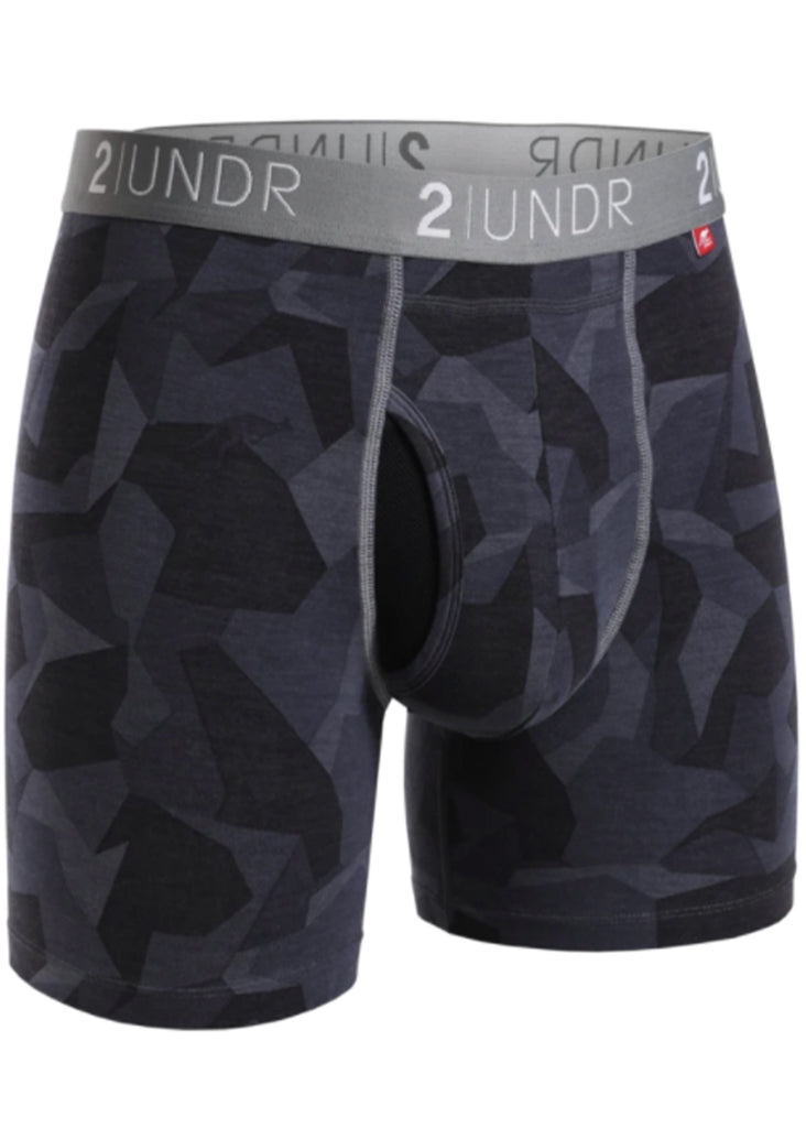 2 UNDR Swing Shift 6 Inch Boxer Brief | Black Camo - Jordan Lash Charleston
