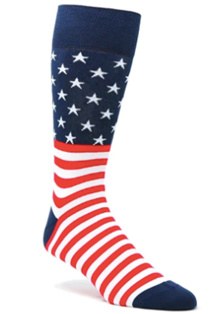 Ell & Atty Stars and Stripes Sock | Navy - Jordan Lash Charleston
