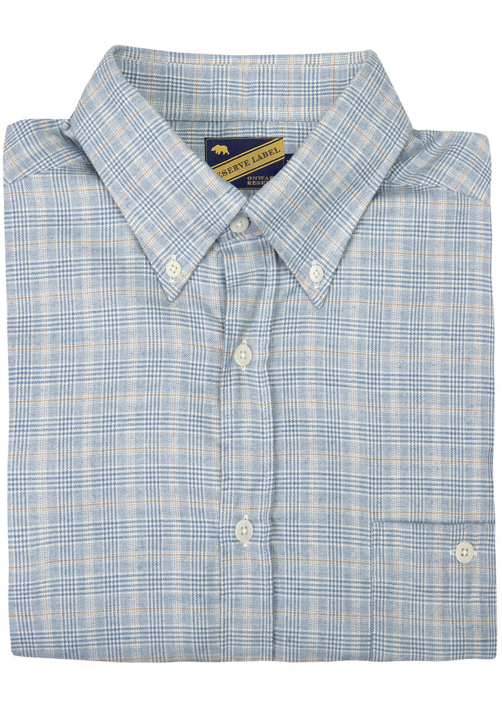Onward Reserve Cashmere Blend Shirt | Tan and Grey Plaid - Jordan Lash Charleston