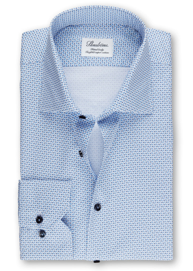 Stenstroms Leaf Patterned Fitted Body Shirt - Jordan Lash Charleston