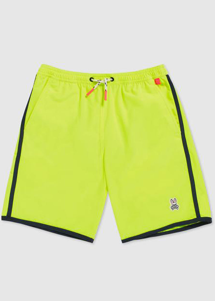 Psycho Bunny Mens Holloway Swim Trunk | Safety Yellow - Jordan Lash Charleston