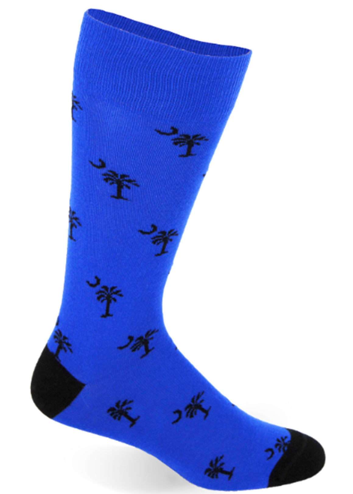 Palmetto Solid Socks | Royal Blue and Black