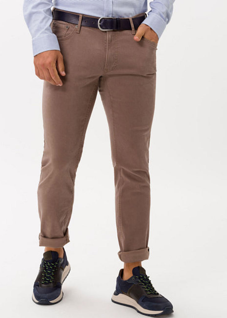Brax Hi Flex Color Blue Planet Chuck 5 Pocket Pant | Beige - Jordan Lash Charleston