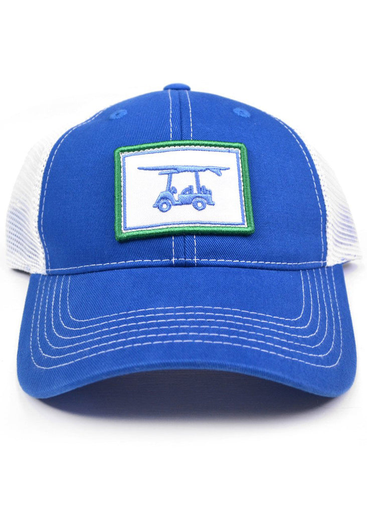 Bald Head Blues Snapback Hat | Royal Blue Patch Trucker - Jordan Lash Charleston