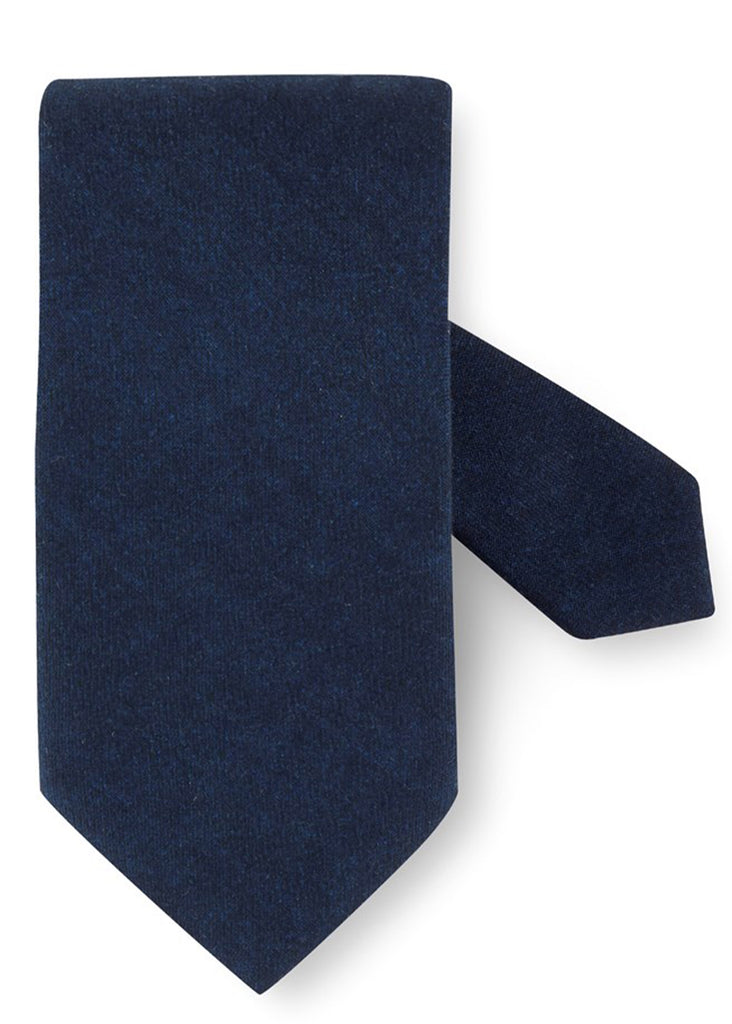 Stenstroms Navy Textured Wool Tie - Jordan Lash Charleston