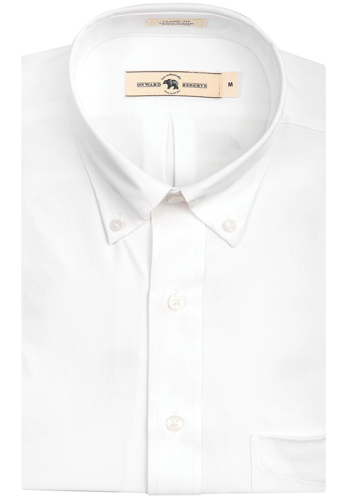 Onward Reserve Classic Fit Performance Shirt | Solid White - Jordan Lash Charleston