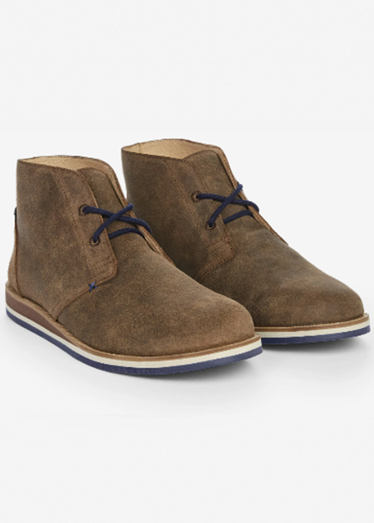 Hari Mari Waxed Adobe Desert Boot | Waxed Chocolate - Jordan Lash Charleston