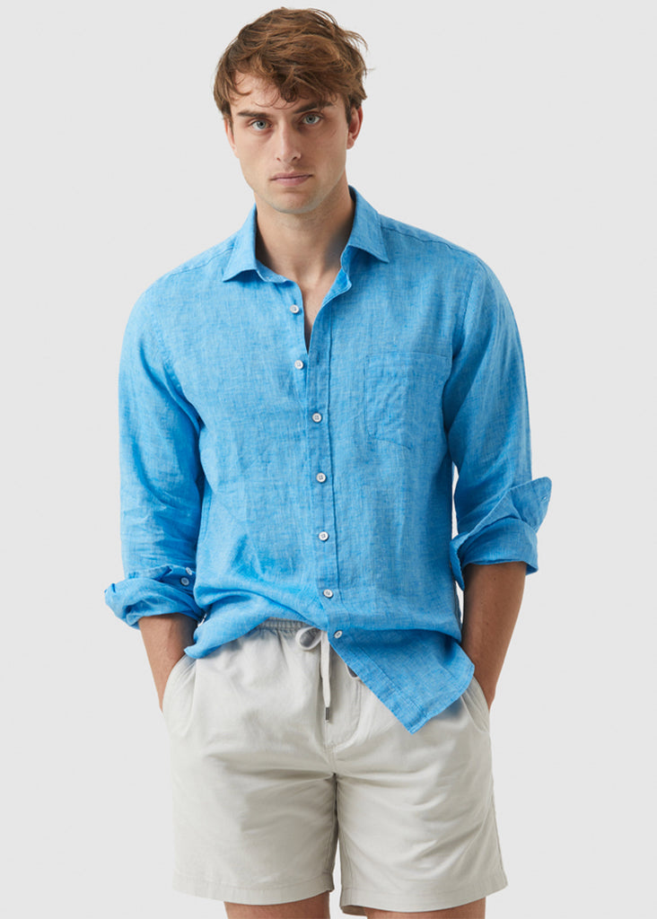 Rodd and Gunn Seaford Shirt | Cyan - Jordan Lash Charleston