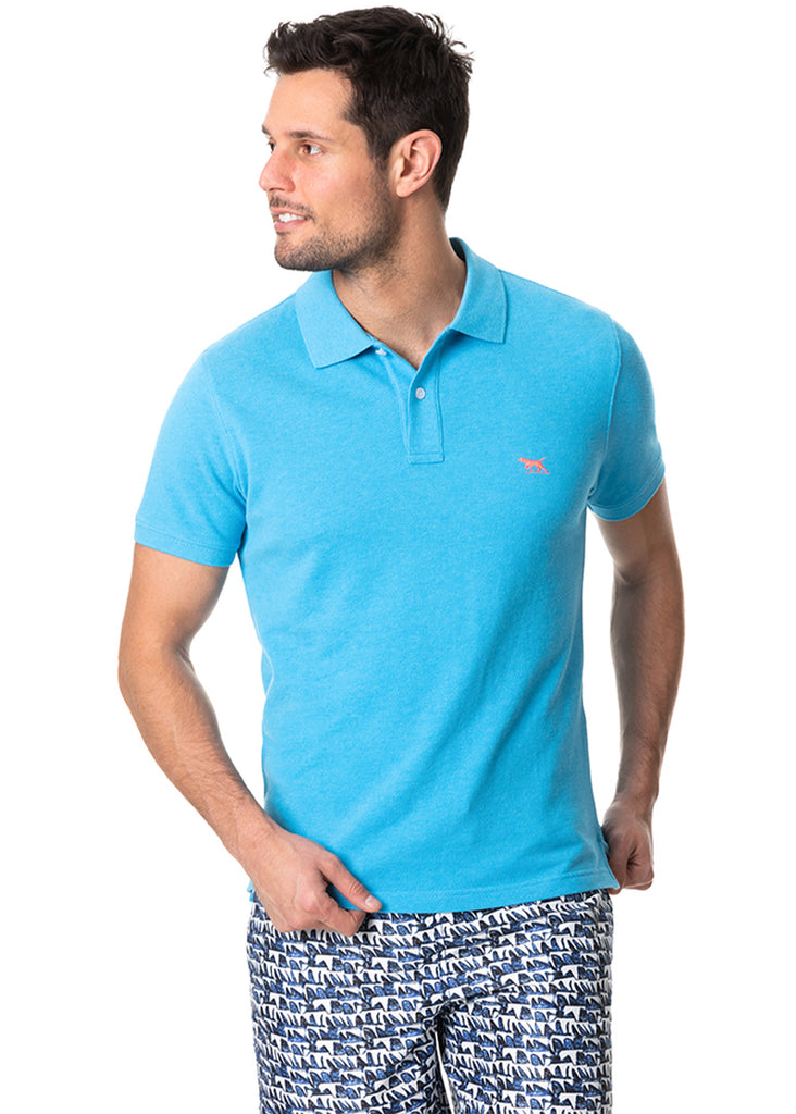 Rodd and Gunn The Gunn Polo | Maui Blue - Jordan Lash Charleston