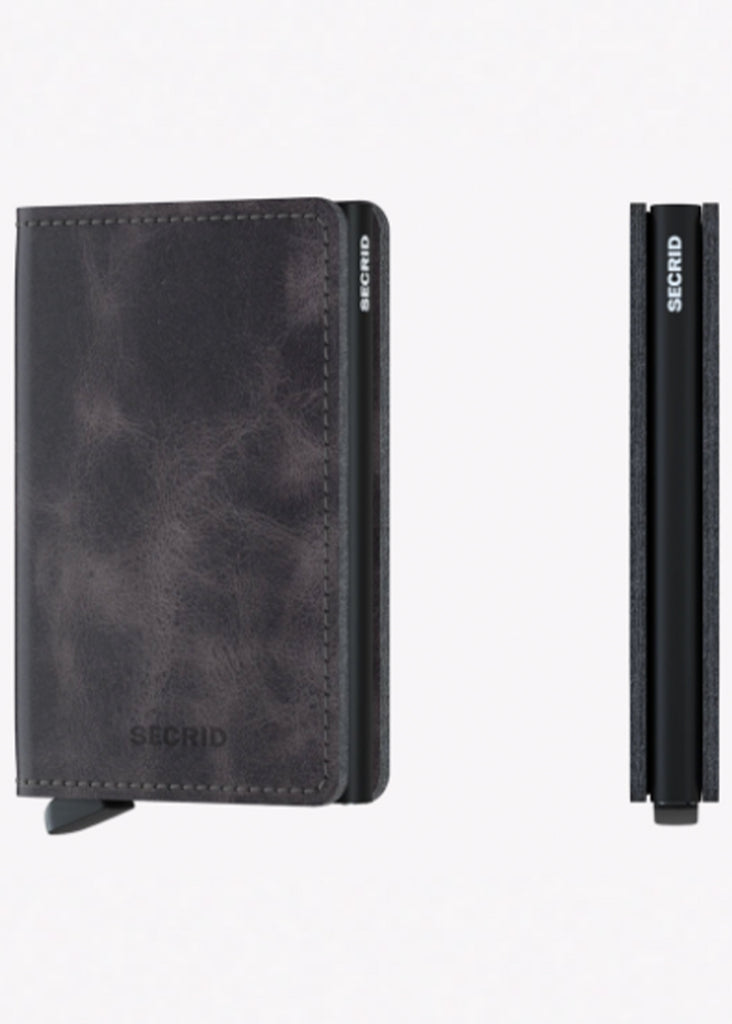 Secrid Slimwallet | Vintage Grey and Black - Jordan Lash Charleston