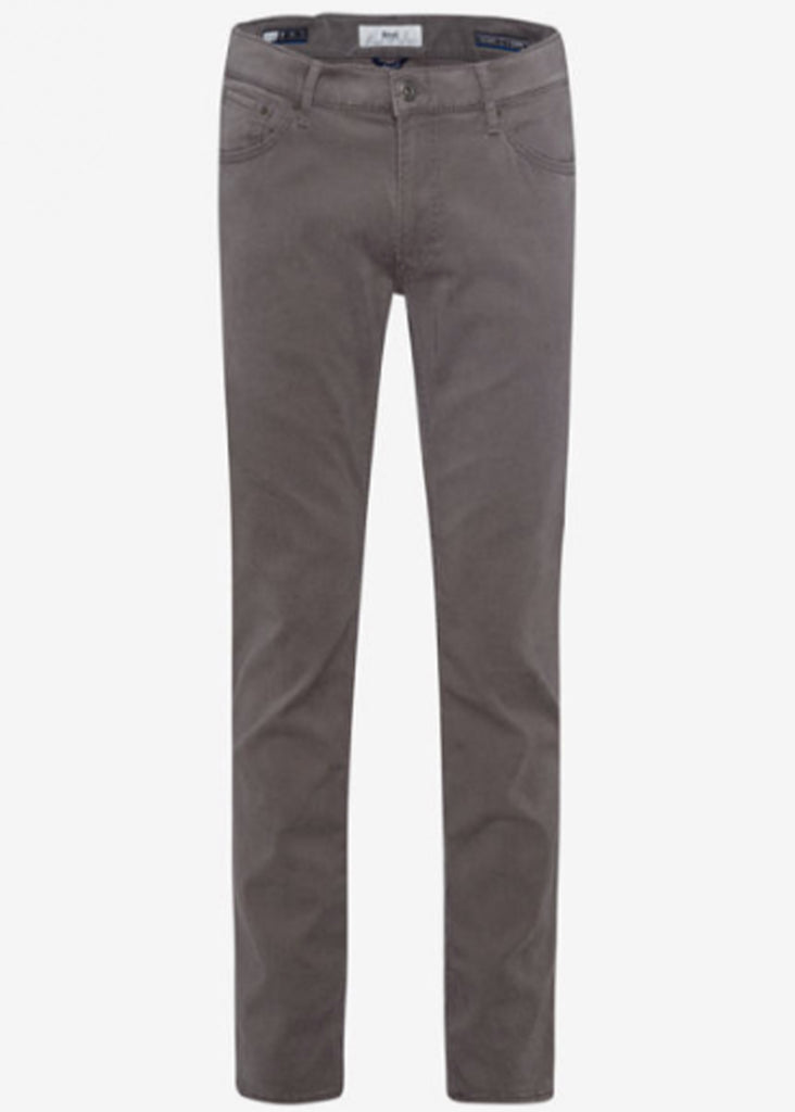 Brax Hi Flex Color Blue Planet Chuck 5 Pocket Pant | Grey - Jordan Lash Charleston