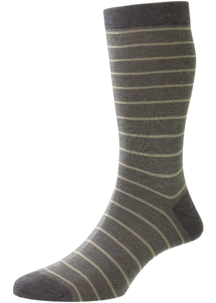 Pantherella Barrington Sock | Mid Grey Mix - Jordan Lash Charleston