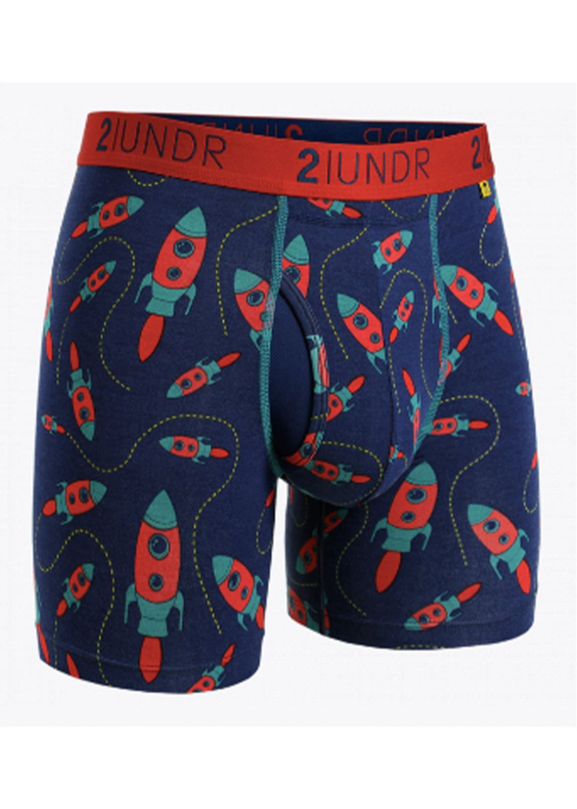 2 UNDR Swing Shift 6 Inch Boxer Brief | Rockets