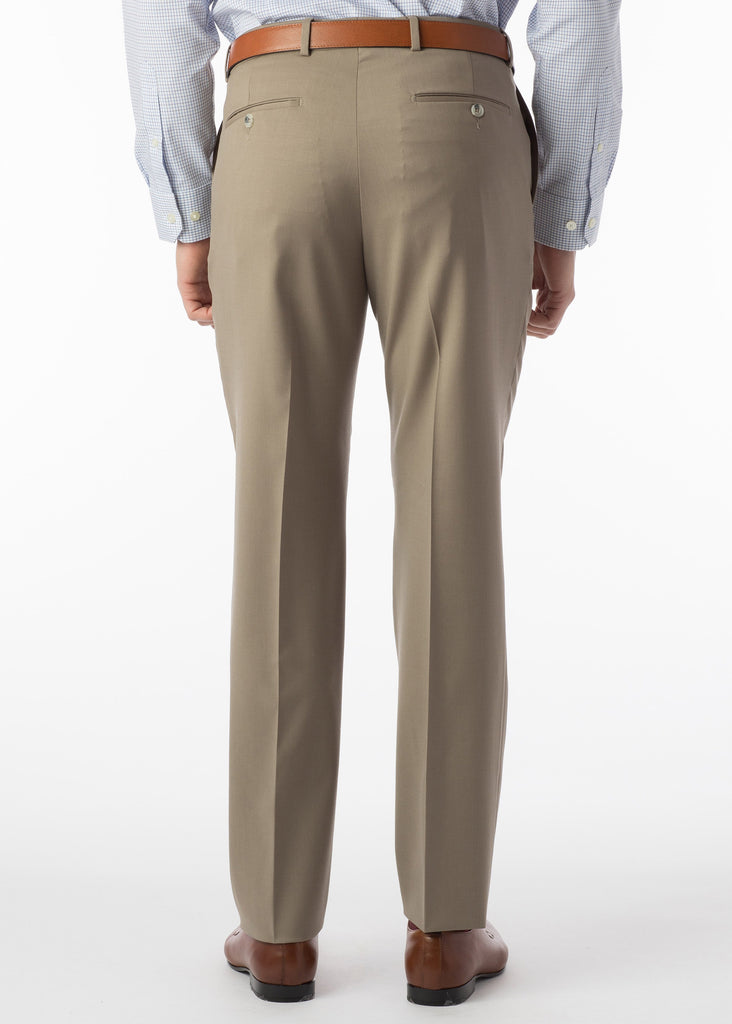 Ballin Super 120's Comfort Eze Gaberdine Soho Dress Pants | British Tan - Jordan Lash Charleston