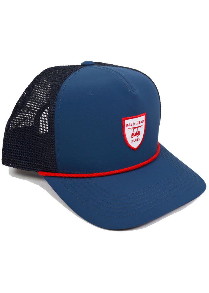Bald Head Blues Performance Hat | Navy Trucker - Jordan Lash Charleston