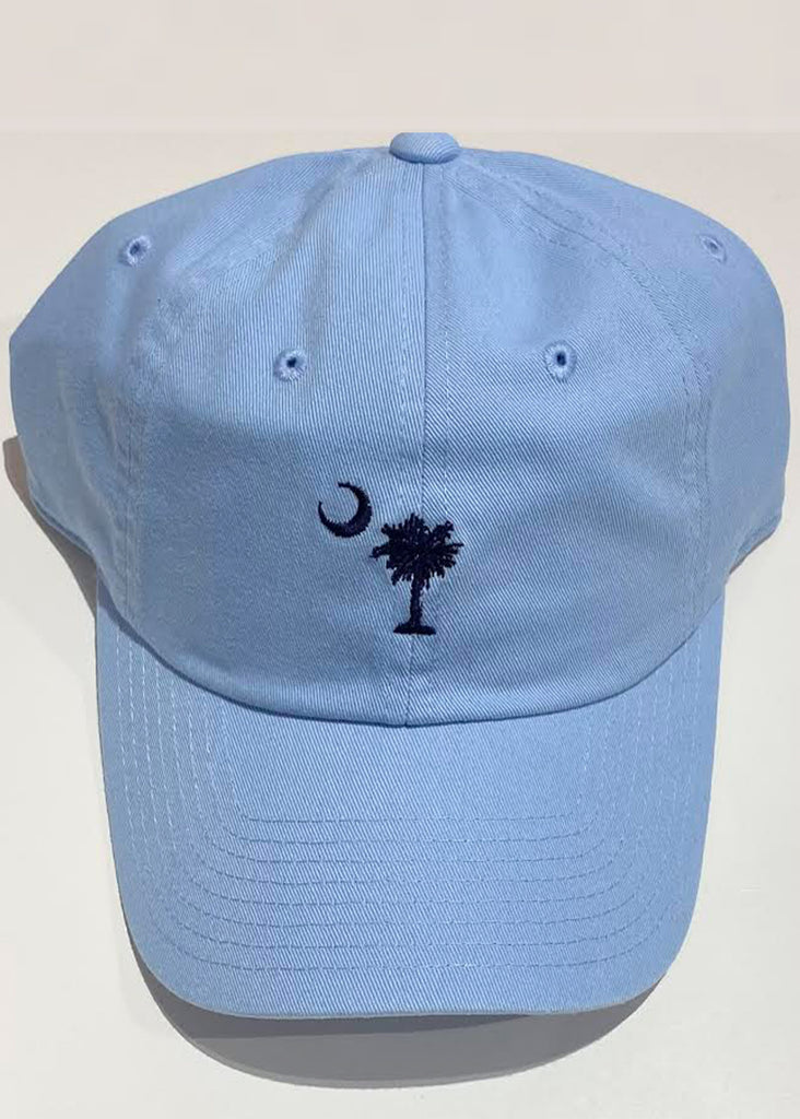 Jordan Lash Charleston Washed Slouch Embroidered Palmetto Hat | Light Blue - Jordan Lash Charleston