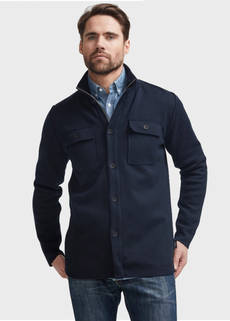 Holebrook Edwin Windproof Shirt Jacket | Navy - Jordan Lash Charleston