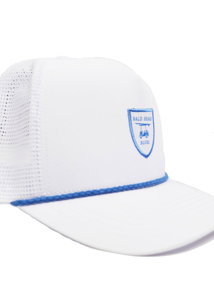 Bald Head Blues Performance Hat | White Trucker - Jordan Lash Charleston