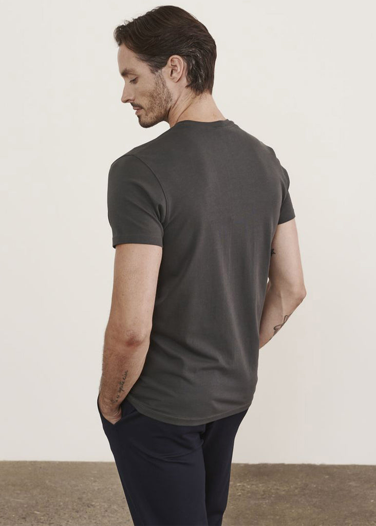Patrick Assaraf Short Sleeve Pima Stretch Crew | Carbon - Jordan Lash Charleston