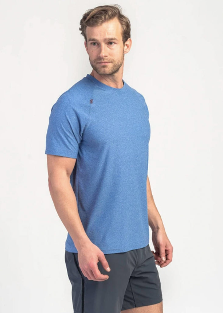 Rhone Reign Short Sleeve | Galaxy Blue Heather - Jordan Lash Charleston