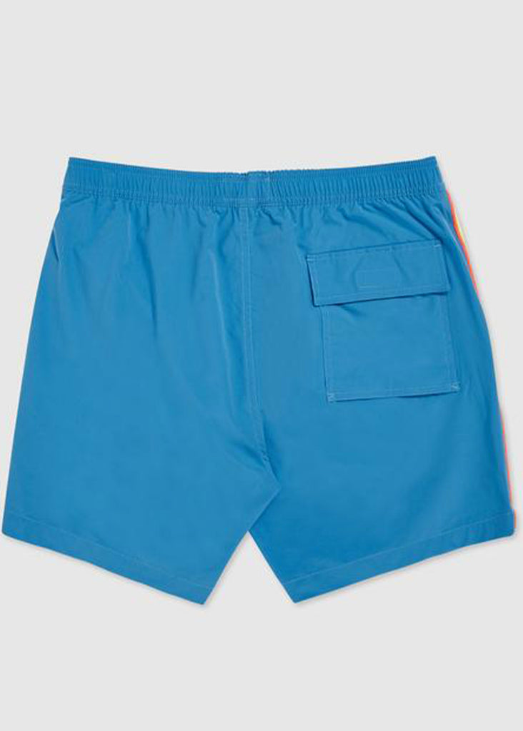 Psycho Bunny Mens Rushup Swim Trunks | Electric Teal - Jordan Lash Charleston