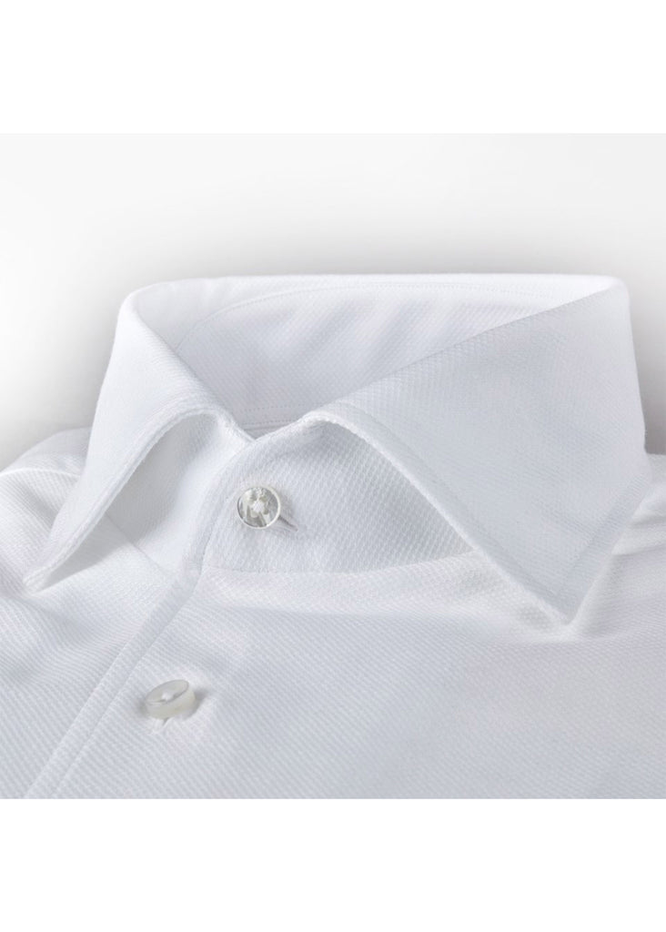 Stenstroms White Fitted Body Shirt With One Piece Collar - Jordan Lash Charleston