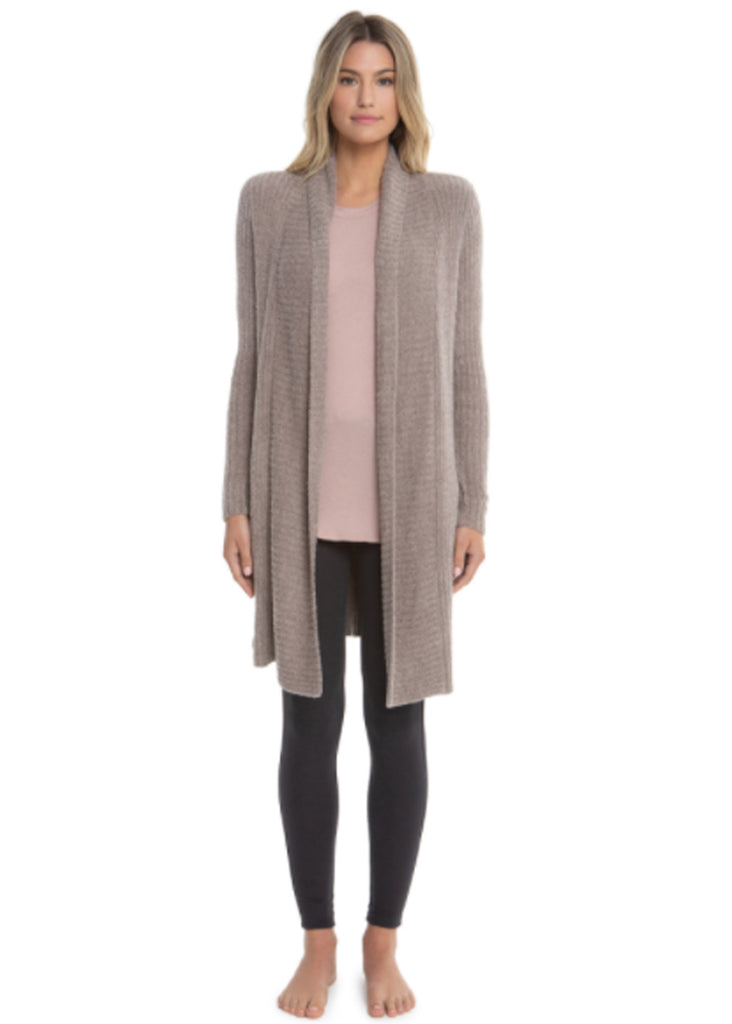 Barefoot Dreams Cozychic Lite Montecito Cardi | Heather Driftwood and Taupe - Jordan Lash Charleston