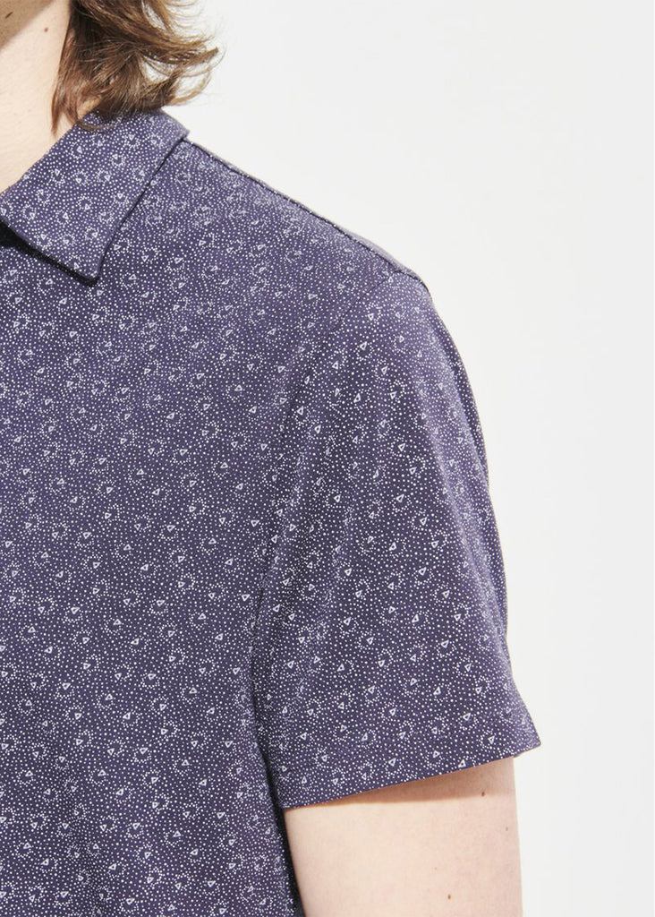 Patrick Assaraf Short Sleeve All Over Print Polo | Cosmic - Jordan Lash Charleston