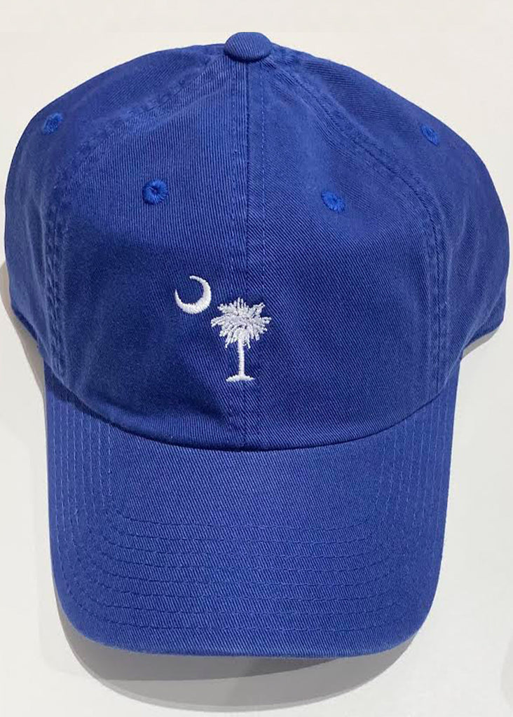 Jordan Lash Charleston Washed Slouch Embroidered Palmetto Hat | Bay Blue - Jordan Lash Charleston