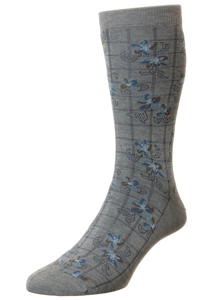Pantherella Foley Sock | Mid Grey - Jordan Lash Charleston