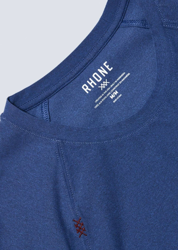 Rhone Reign Short Sleeve Tee | Midnight Sapphire Heather - Jordan Lash Charleston