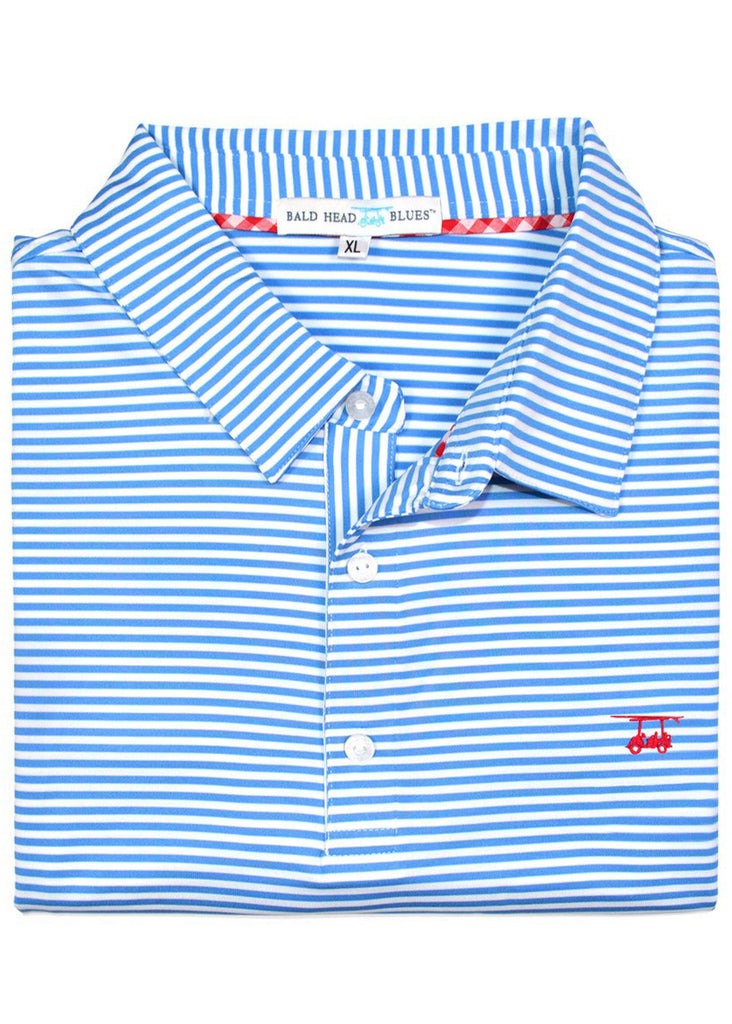 Bald Head Blues Albatross Polo | Regatta and White Stripe - Jordan Lash Charleston