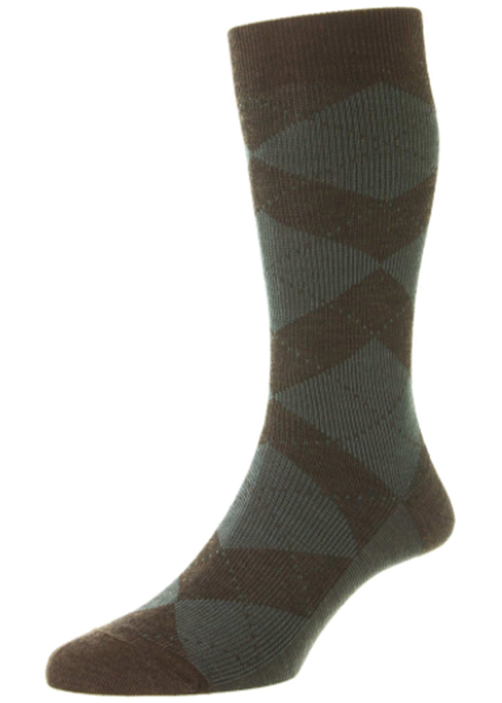 Pantherella Abdale Sock | Dark Brown Mix - Jordan Lash Charleston