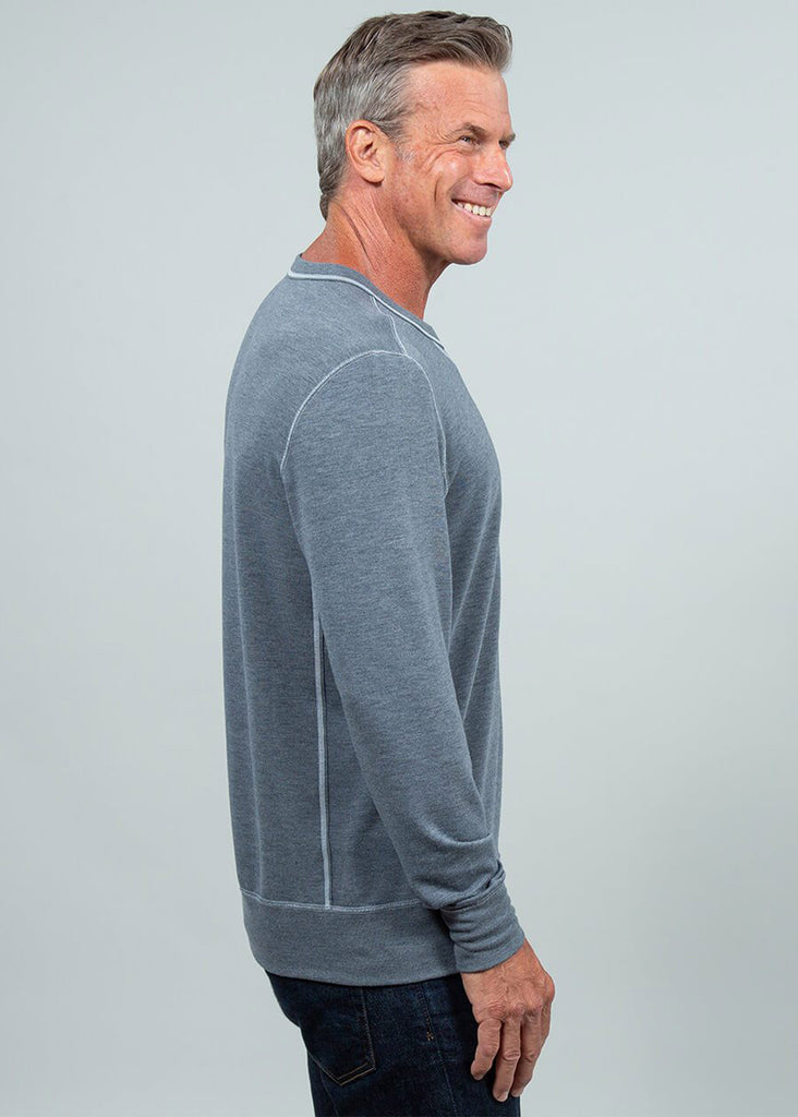 Toes On The Nose Sea Silk Growler Long Sleeve Crew | Dark Heather Grey - Jordan Lash Charleston