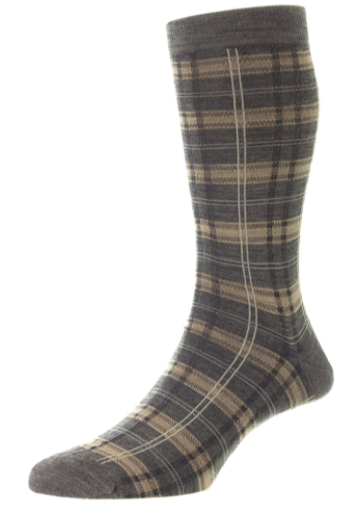 Pantherella Topham Sock | Mid Grey Mix - Jordan Lash Charleston