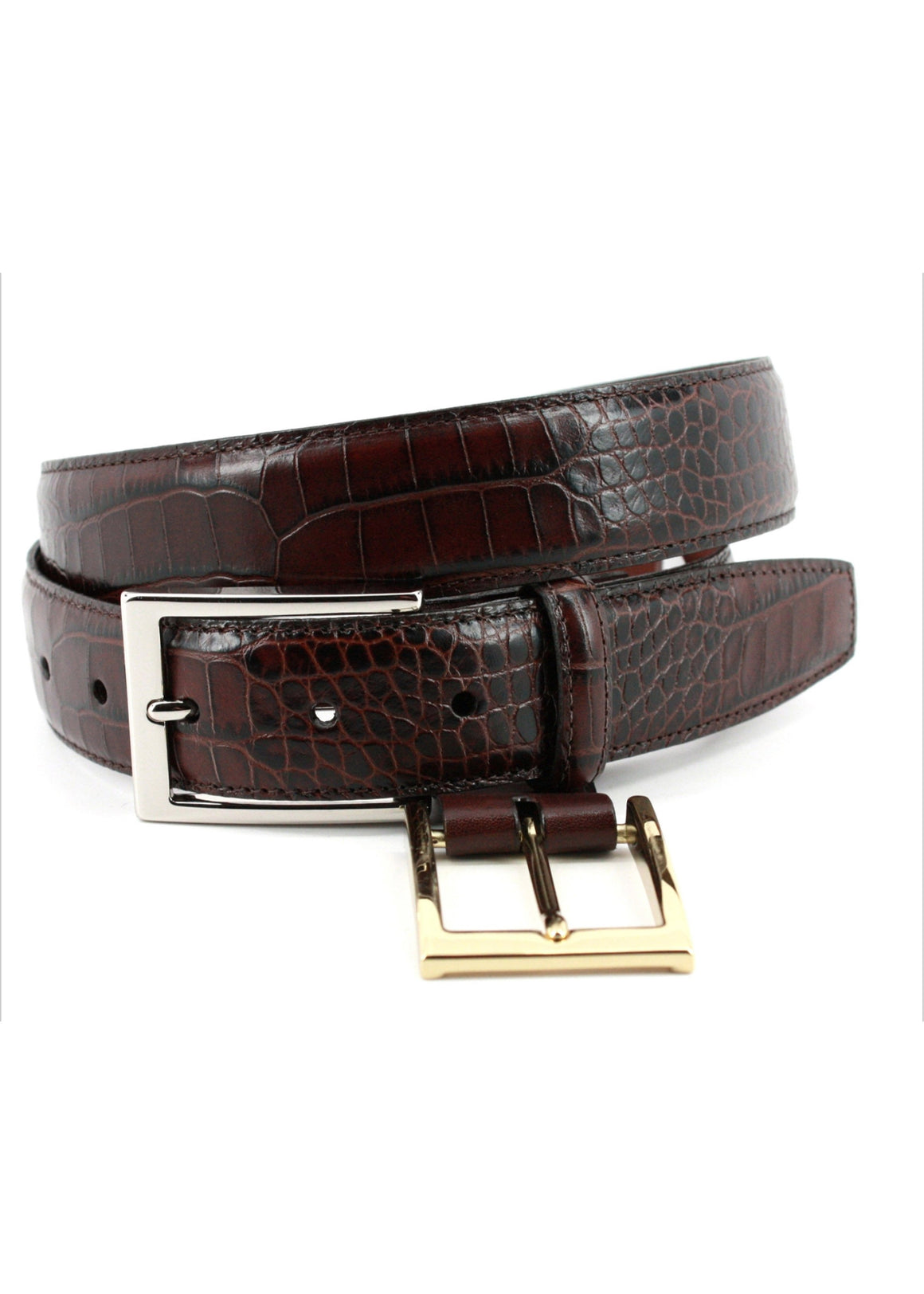 Torino Aligator Grain Embossed Calf | Brown