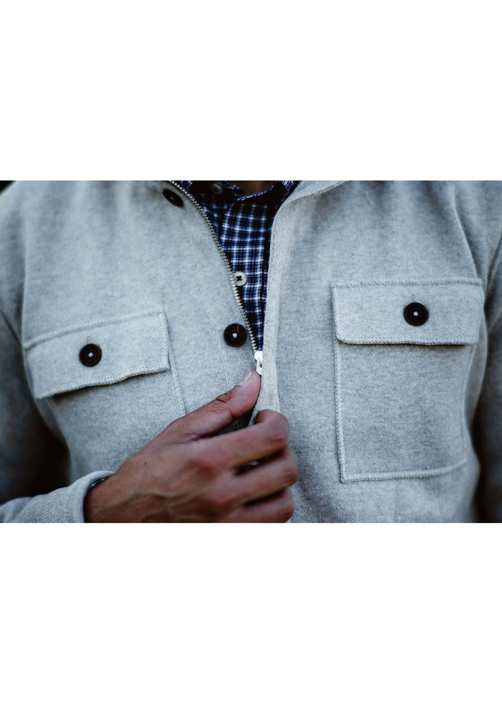 Holebrook Edwin Windproof Shirt Jacket | Light Grey - Jordan Lash Charleston