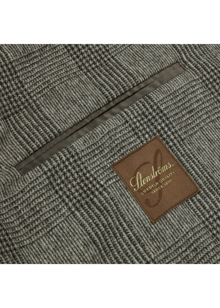 Stenstroms Dark Beige Glen Check Wool Blazer - Jordan Lash Charleston