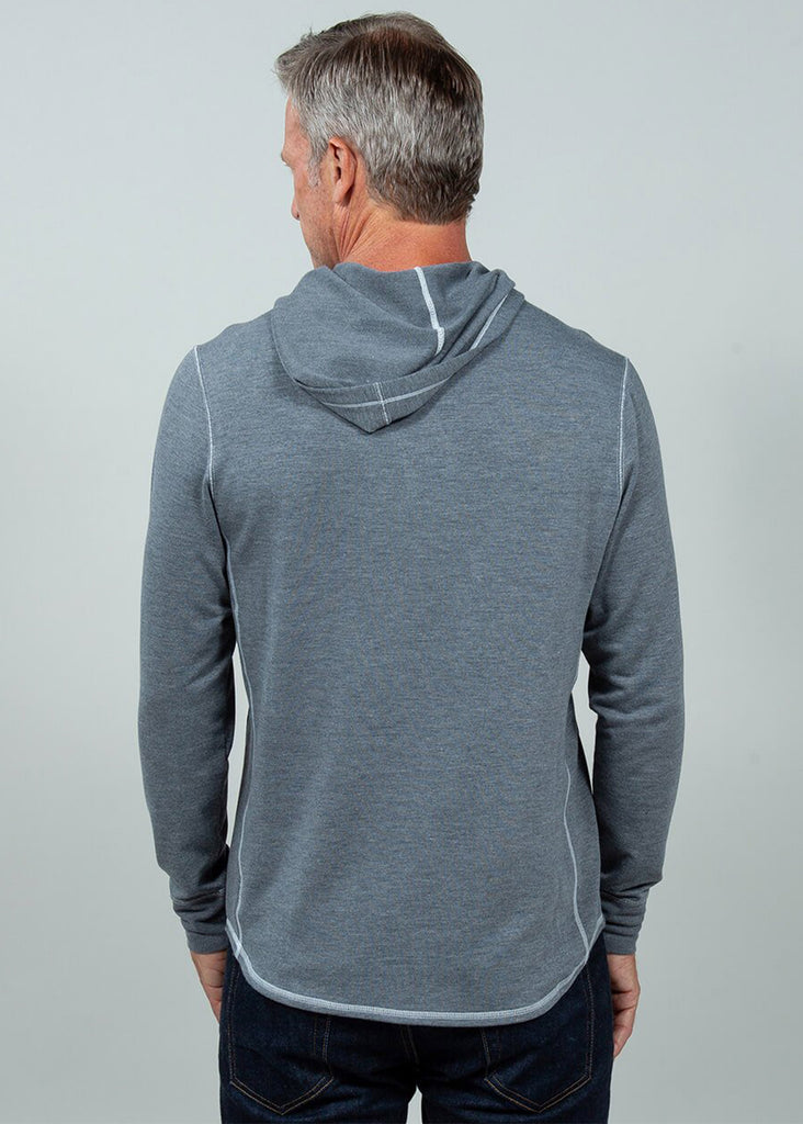 Toes On The Nose Sea Silk Schooner Long Sleeve Hoodie | Dark Grey Heather - Jordan Lash Charleston