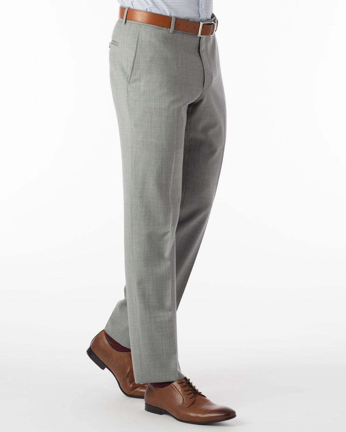 Ballin Super 120's Comfort-Eze Gaberdine Soho Dress Pant | Pearl Grey