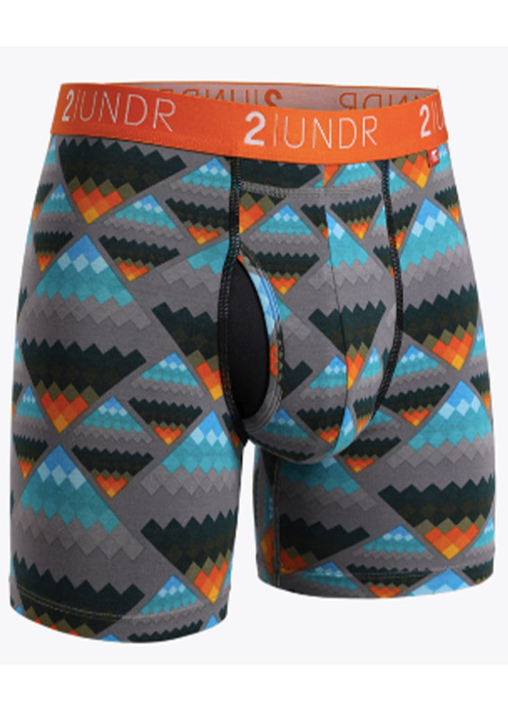 2 UNDR Swing Shift 6 Inch Boxer Brief | Aztec - Jordan Lash Charleston