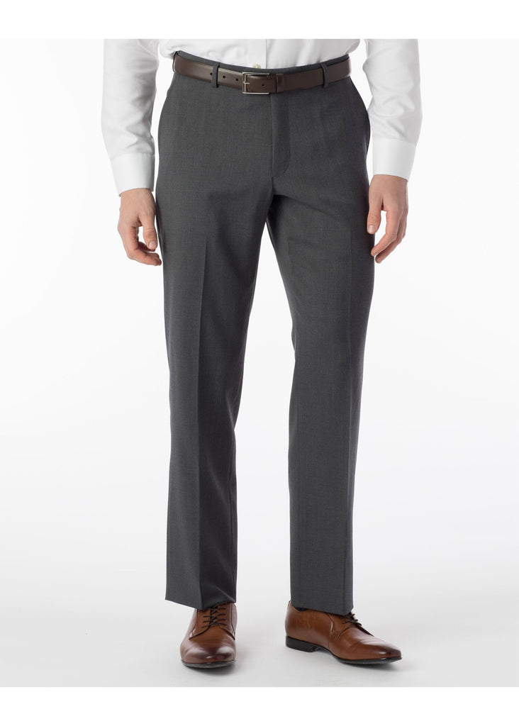 Ballin Super 120's Comfort Eze Gaberdine Soho Dress Pants | Mid Grey - Jordan Lash Charleston
