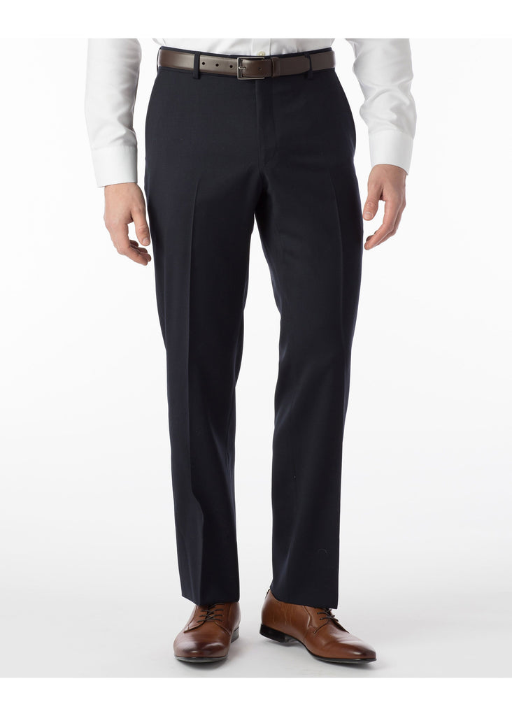 Ballin Super 120's Comfort Eze Gaberdine Soho Dress Pants | Navy Blue - Jordan Lash Charleston