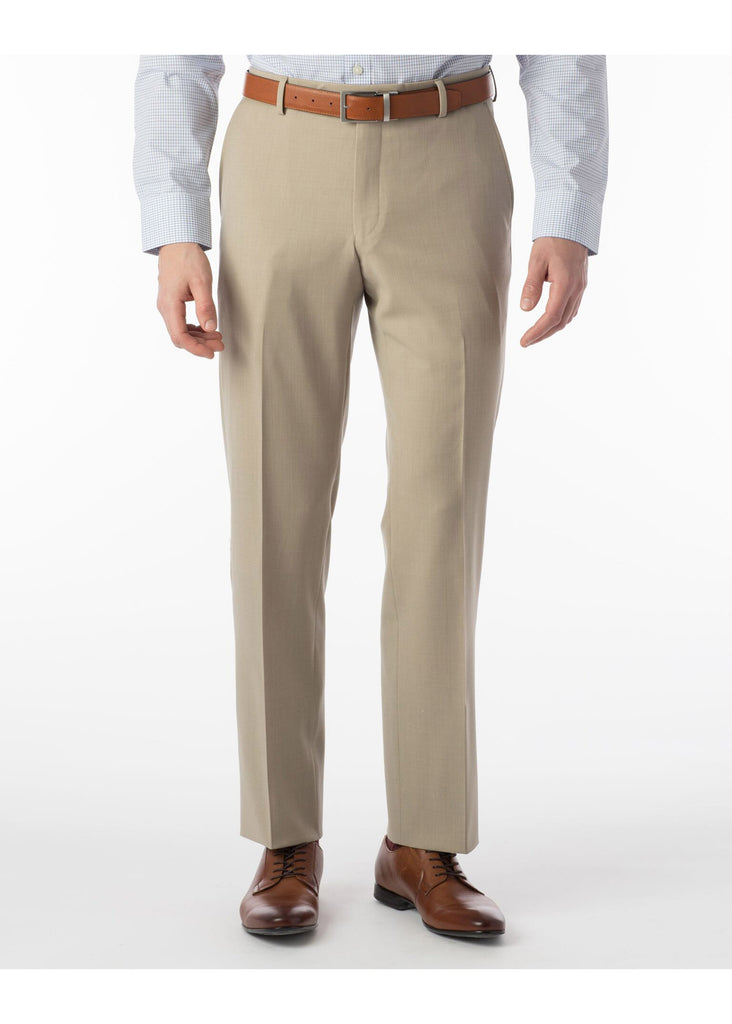 Ballin Super 120's Comfort Eze Gaberdine Soho Dress Pants | Oatmeal - Jordan Lash Charleston