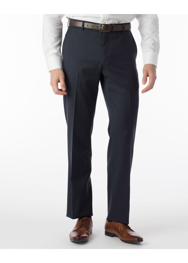 Ballin Super 120's Comfort Eze Gaberdine Soho Dress Pants | Navy Mix - Jordan Lash Charleston