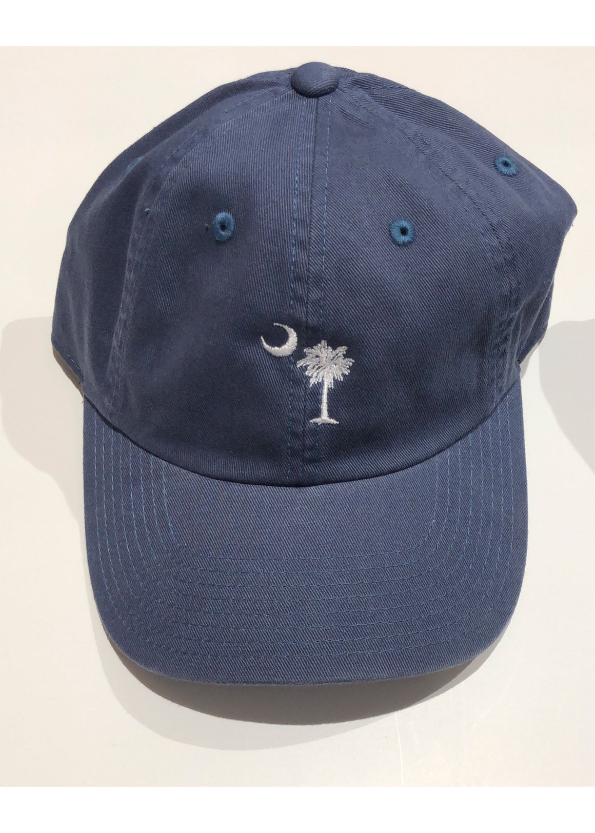 Washed Slouch Embroidered Palmetto Hat | Classic Blue