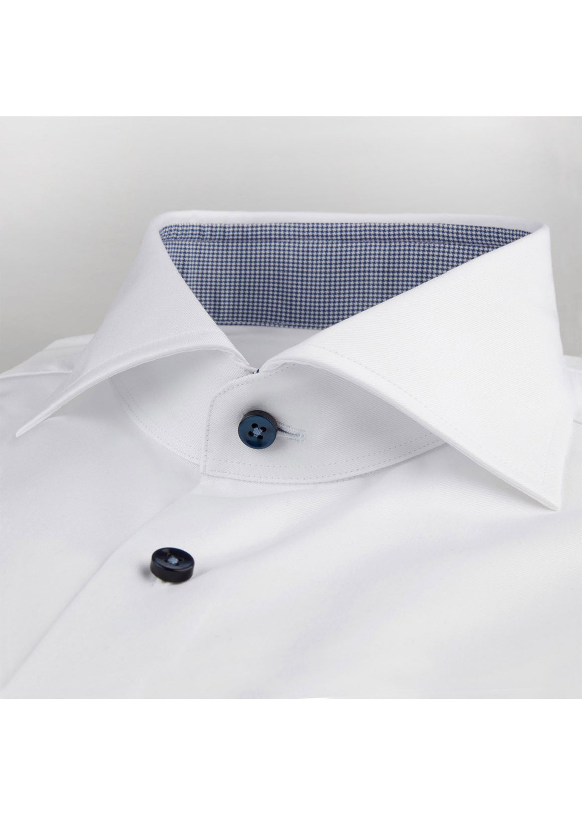 Stenstroms White Fitted Body Shirt With Contrast Details